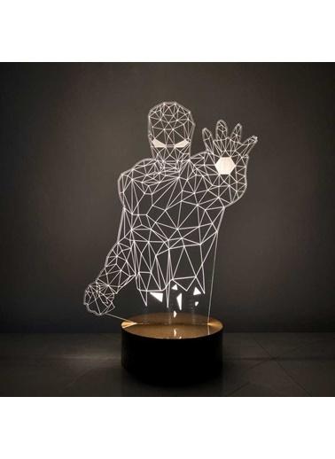 By-Lamp 3 Boyutlu Iron Man Led Lamba Renkli